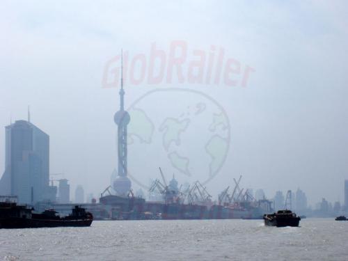 02.05.2003 - Shanghai auf dem Huangpu Fluss
