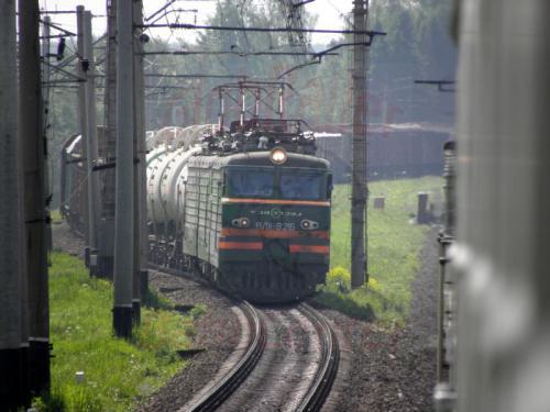 Begegnung mit einem Güterzug