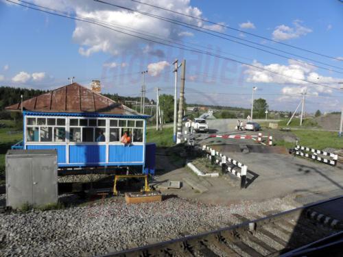 Bahnübergangsicherung auf Russisch