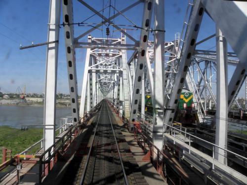 Omsk Brücke über den Irtysch