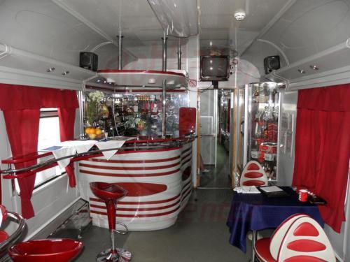 Speisewagen im Zug 80 von Moskau nach Krasnojarsk