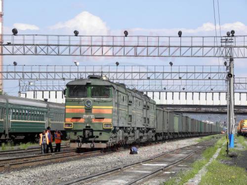 Tinda Bahnhof Güterzug